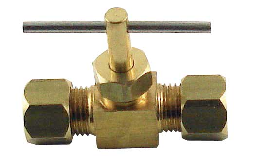 "Needle Valve - Compression - 1/4"" x 1/4"""