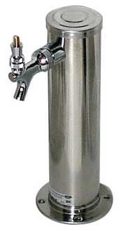 1 Faucet - Polished Stainless Steel - Air Cooled