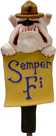 Semper Fi Bulldog Tap Handle