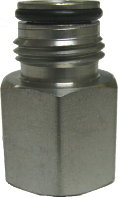 "Adapter - Firestone Gas Keg Post - 1/4""fpt x 9/16-18"""