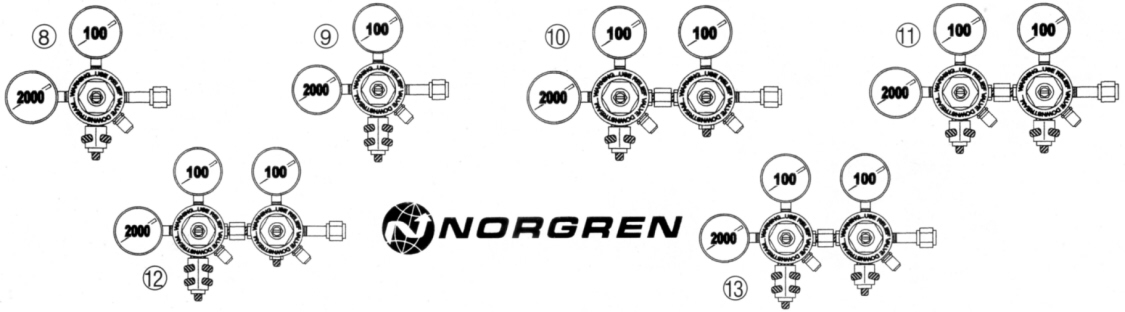 Norgren Dual & Multi Output Soda Regulators