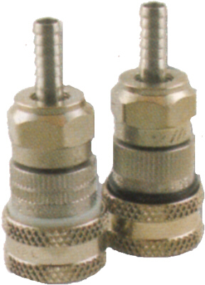 Quick Disconnect - S/S - Gas - Vertical Barbed End