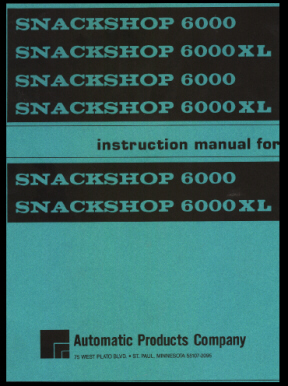 Automatic Products - 6000 Snack Machine Manual