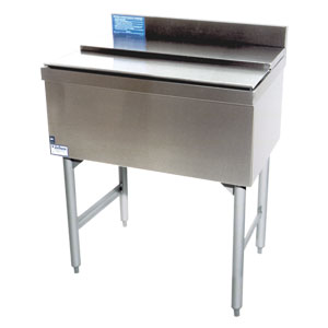 "24"" Stainless Steel Underbar Ice Chest with 8 Product Cold Plate"