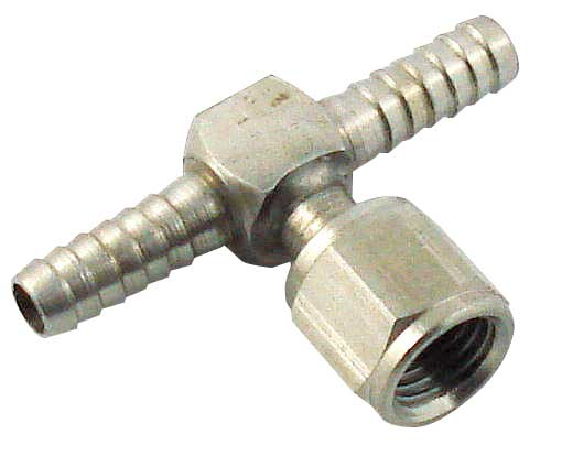 "Barbed ""T"" w/ Swivel Nut - 1/4"" all"