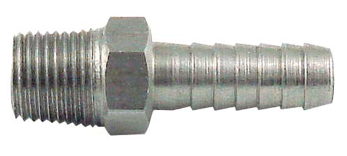 Male Pipe Hose Stem - Barbed End