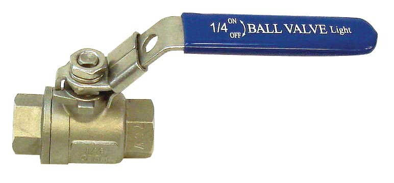 "Ball Valve - S/S - 1/4""FPT x 1/4""FPT"