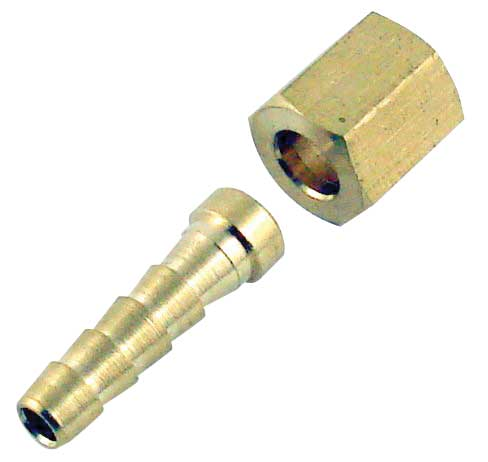 Swivel Nut Hose Stem - 2-Piece