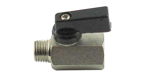 "Inline Ball Valve - 1/8"" MPT x 1/8"" FPT"