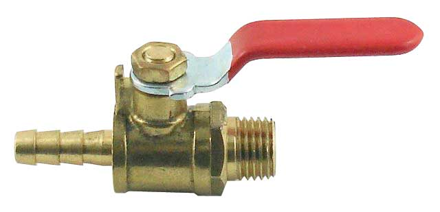 "Brass Ball Valve - 1/4""B x 1/4""MPT"
