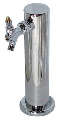 1 Faucet Draft Tower - Chrome Plated & Glycol Cooled