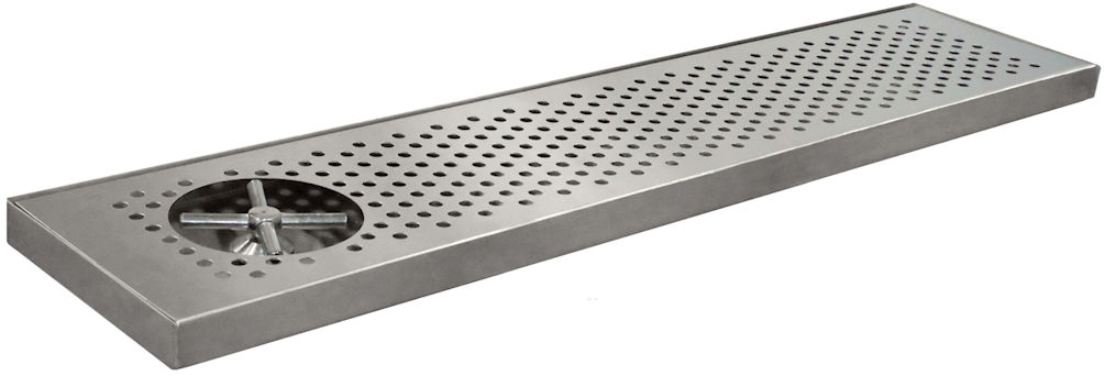 "Glass Rinser Drip Tray - 30"" - Surface Mount"