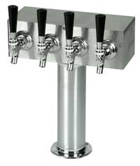 T Tower - Round Upright - Stainless Steel