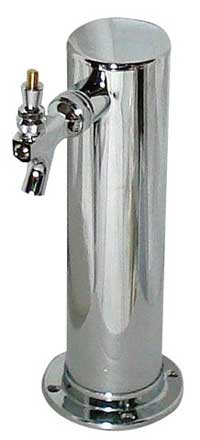 1 Faucet Draft Tower - Chrome Plated - Air Cooled - 3""