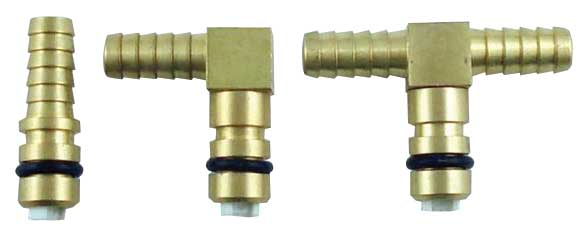 "Flojet Gas - Brass ""T"" 1/4"" Barbed End"