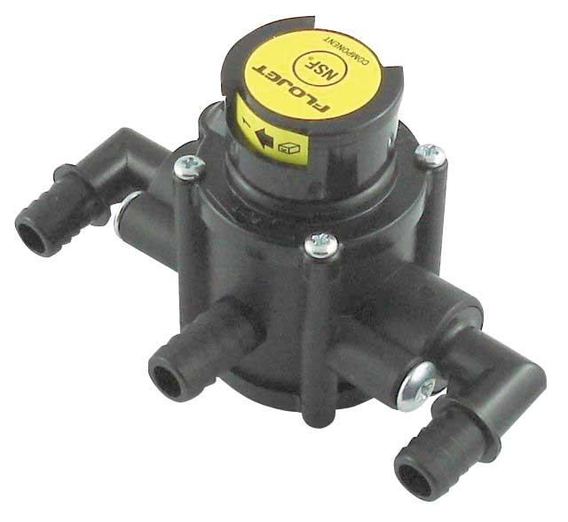 Flojet Tranfser Valve - Front Port - High Altitude