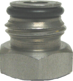 "Adapter - Firestone Gas Keg Post - 1/4""FFL x 9/16-18"""