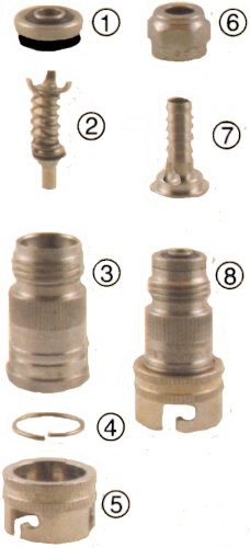 Hansen SS Quick Disconnect Repair Parts PIN LOCK