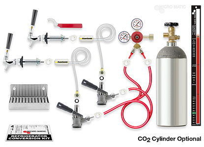 Standard Refrigerator Conversion Kit Two Keg