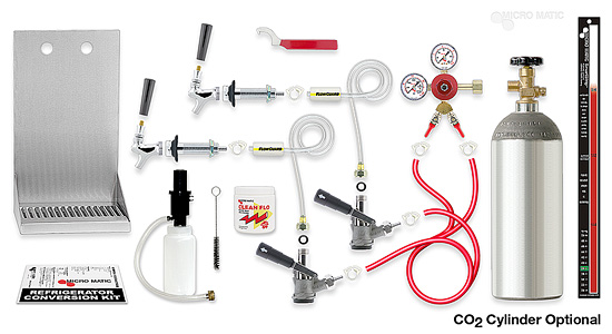 Premium Refrigerator Conversion Kit Two Tap