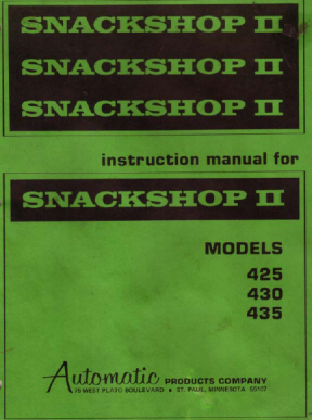 Automatic Products - 400 Series Snack Machine