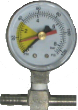 Water Pressure Gauge - Metal Base